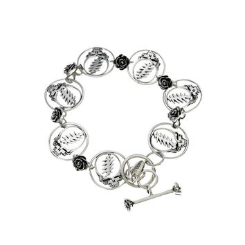 Steal Your Face Sterling Silver Statement Bracelet