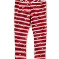 Copper Key Little Girls 2T-4T Striped/Dotted Leggings | Dillards