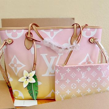 Louis Vuitton LV Neverfull By the Pool Collection Handbag Shoulder Bag Two-Piece Set