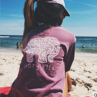 Print With Pocket Long Sleeve T-shirts [6259187140]