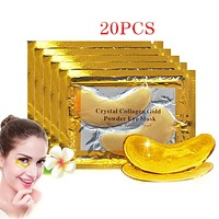 20Pcs Crystal Collagen Gold Eye Mask Anti-Aging Dark Circles for Acne Beauty  Patches For Eye Skin Care Korean Cosmetics