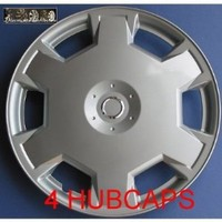 """15"""" Set of 4 Nissan Versa Cube Wheel Cover 15 Inch Silver Lacquer Hubcaps"""