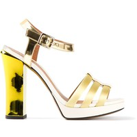 Fendi stacked heel sandal