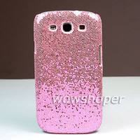 Hard Bling Skin Case Cover For Samsung Galaxy S 3 III S3 I9300 Pink