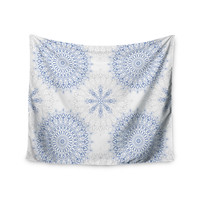 "Julia Grifol ""Mandalas In Blue"" Vector Geometric Wall Tapestry"