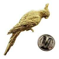 Cockatiel Pin ~ 24K Gold ~ Lapel Pin