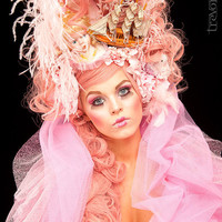 Marie Antoinette Style Headdress Wig by PoshFairytaleCouture