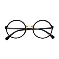 Clear Lens Retro Style Circle Round Glasses Frames R1001