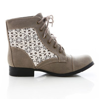 Crochet Attraction Boots | Combat Boots at Pink Ice