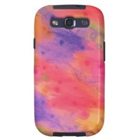 SEEING STARS 3 - Peach Pink Pretty Starry Abstract Galaxy SIII Cases from Zazzle.com