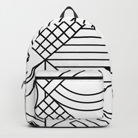 Whackadoodle White and black Backpacks by Fimbis
