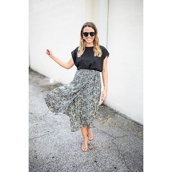 All On My Mind Leopard Wrap Skirt - Brown