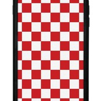 red checkers iphone 6 7 8 plus case  number 1