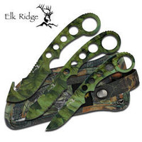 3 Pc Elk Ridge Camo Hunting Knife Set ER521C