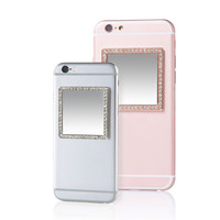 Selfie Square Phone Mirror with Crystals