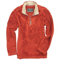 Pebble Pile Pullover 1/2 Zip in Spice by True Grit