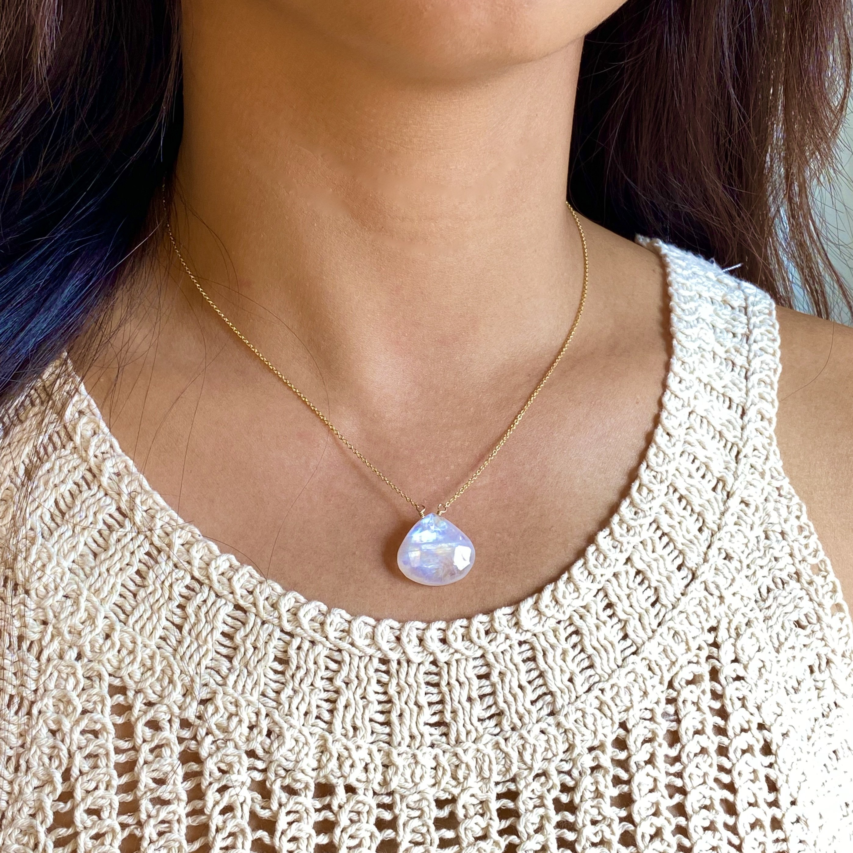 Image of Moonstone Pendant Necklace