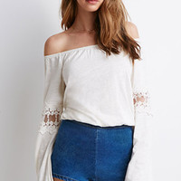 Embroidered Bell-Sleeve Top