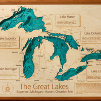 Great Lakes Collection 16 x 20 Wall Art