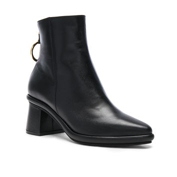 Reike Nen Leather Ring Slim Boots in Black | FWRD