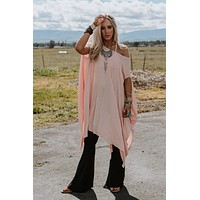 The Wren Oversized Tunic Top - Peach