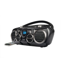 AKAI Bluetooth(R) CD Boombox AM-FM Digital Read Out with 6 Speakers
