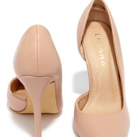 Side Effects Nude D'Orsay Pumps