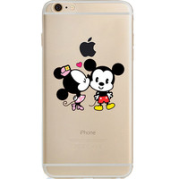 Disney's Mickey & Minnie Jelly Clear Case For Apple Iphone 7 PLUS