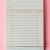 Library Card Purse Note Pad – Spearmint