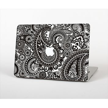 """The Black & White Pasiley Pattern Skin Set for the Apple MacBook Pro 13""""   (A1278)"""