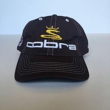 Grey with yellow white logo cotton Cobra Golf Cap