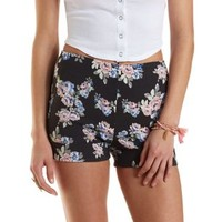 Multi High-Waisted Floral Print Cuffed Shorts by Charlotte Russe