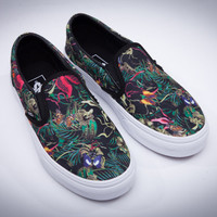 Trendsetter VANS Slip-On Old Skool Print Flats Shoes Sneakers Sport Shoes