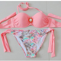 Pink Push up Padded Swim Suite Bikini