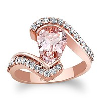 Barkev's Morganite Twist Diamond Engagement Ring