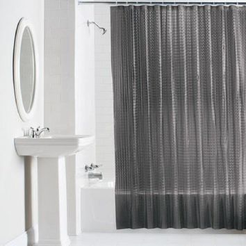 Mainstays Lenticular Solid Color PEVA Shower Curtain Collection, Grey
