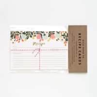 Hanging Garden Kitchen Recipe Cards | Package of 12 Recipe Cards | RIFLE PAPER Co. | Made in USA