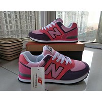 """New Balance"" Women Sport Casual N Words Breathable Sneakers Running Shoes"