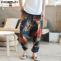 Men's Hip Hop Aladdin Baggy Cotton Linen Pants