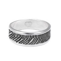 Personalized Jewelry - Actual Fingerprint Wedding Ring