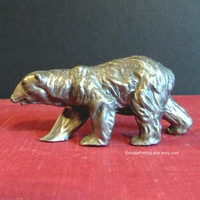 Vintage Pewter Bear Figurines, Silver Metal Bear Sculpture, Numbered Colliectible Pewter