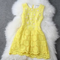 Stitching Organza Temperament Of Cultivate One's Morality Dress