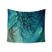 "Sylvia Cook ""Winter Moon"" Wall Tapestry"