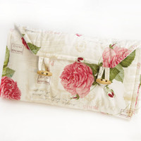 Parisian Rose Nappy Wallet and Change Mat Baby Portable Accessories Diaper Wallet French Child Kids Children
