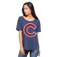 '47 Chicago Cubs Bleacher Blue Boyfriend Tee