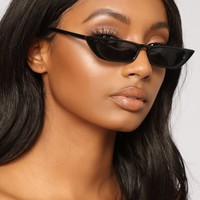 Over The Edge Cat Eye Sunglasses - Black