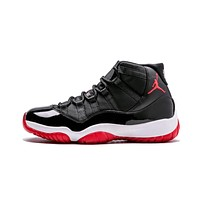 Air Jordan 11 Retro ¡°Bred¡± AJ11 Men Sneakers Women Basketball Shoes