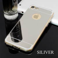 Silver Phone Case For iPhone 7 7Plus 6 6s Plus 5 5s SE