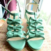 Liz Lisa 3 Bows Wedges