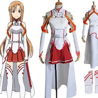 Asuna Yuki Costume Outfit from Sword Art Online (SAO) Cosplay Costume